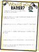 Halloween- Would you rather? 4th Grade Math