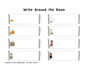 Halloween Write Around the Room