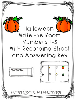 Halloween Write The Room Numbers 1-5