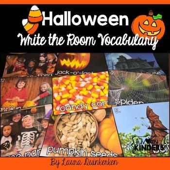 Halloween Write The Room Vocabulary