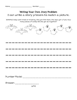 Halloween Write Your Own Word Problem