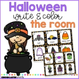 Halloween Write and Color the Room