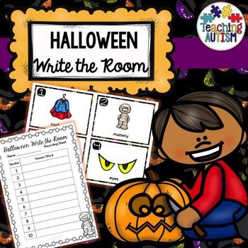Halloween Activities - Write the Room