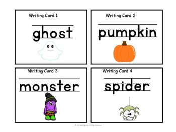 Halloween Writing Activity - Write the Room