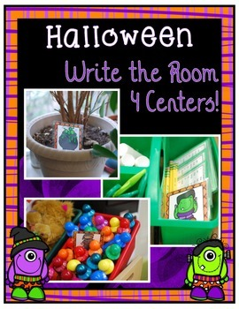 Halloween Write the Room ~ 4 Centers