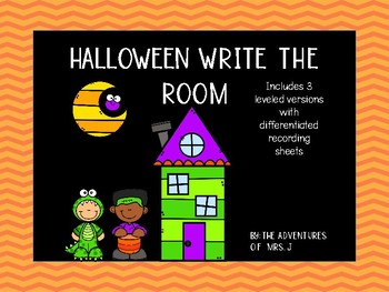 Halloween Write the Room- Differentiated