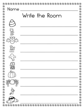 Halloween Write and Count the Room