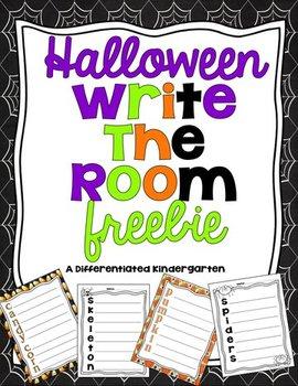 Halloween Write the Room Freebie for Kinesthetic Learners