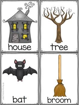 Halloween Write the Room Kindergarten - 2 (Differentiated)