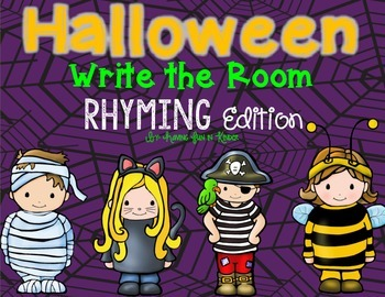 Halloween Write the Room - Rhyming Edition