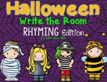 Halloween Write the Room - Rhyming Edition