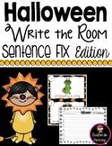 Halloween Write the Room - Sentence Fix Edition