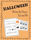 Halloween! Write the Room: Sol and Mi