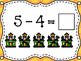 Halloween Write the Room Subtraction to 10