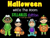 Halloween Write the Room - Syllables Edition
