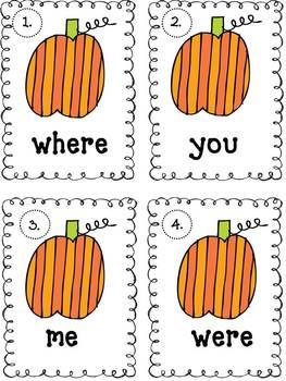 Halloween Write the Room With Pumpkins