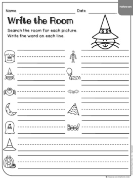 Halloween - Write the Room Writing Prompts {Print on Cardstock or Post It Notes}
