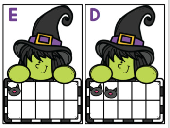 Halloween Write the Room with 10 Frames
