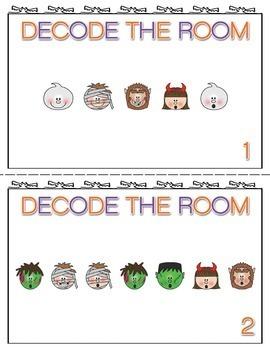 Halloween Write the Room Decode the Room