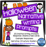 Halloween Activities: Halloween Writing Prompts Spooky Story Writing
