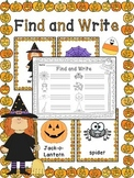 Halloween Writing Center Activity