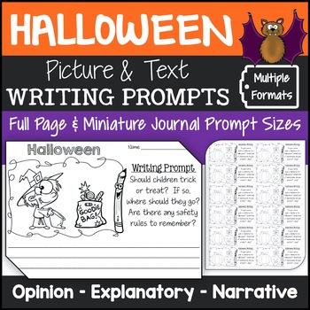 Halloween Writing Prompts {Narrative Writing, Informative & Opinion Writing}