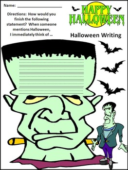 Halloween Writing: Halloween Writing Projects Activity Packet Bundle