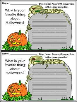 Halloween Writing: Halloween Writing Projects Activity Packet Bundle -Color & BW