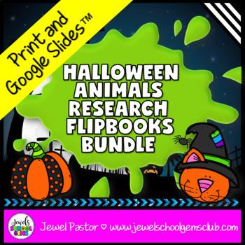 Halloween Science Activities BUNDLE (Animal Research Repor