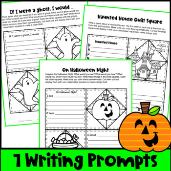 Halloween Writing Prompts Quilt