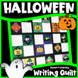 Halloween Writing Prompts Quilt - Facts and Opinions, Staying Safe, Witch's Brew