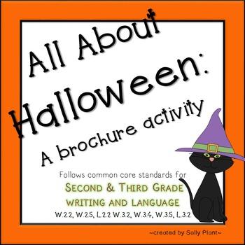 Halloween Brochure Writing Activity
