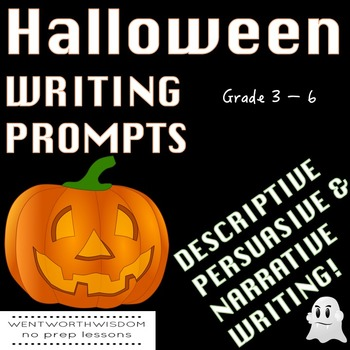 Halloween Writing Halloween Writing Prompts Halloween Language arts