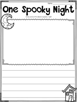 Halloween Writing Printables, Activities, and Flipbooks