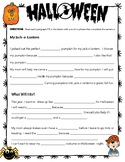 Halloween Writing - Fill in the Blank