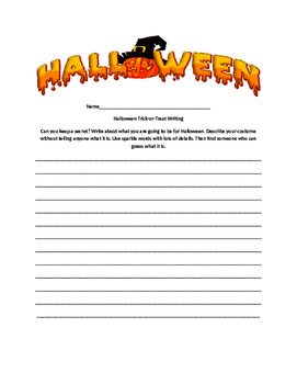 Halloween Writing 6+1 Traits Word Choice