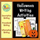 Halloween Writing Activities - Descriptive, Procedural and Information Writing