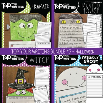 Halloween Writing Activities {4 Craftivities + 16 Writing