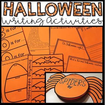 Halloween Writing Activities/Centers