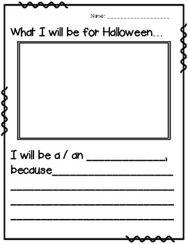Halloween Writing Activities & Costume Word Wall Cards