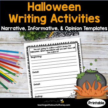 Halloween Writing Activities - Narrative, Opinion, and Informative Templates