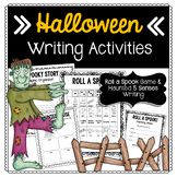 Halloween Writing Activities: Roll a Spook & Haunted Senses