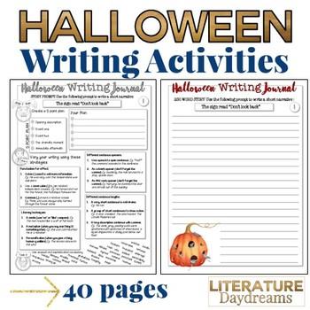 Halloween Writing Activities for teens