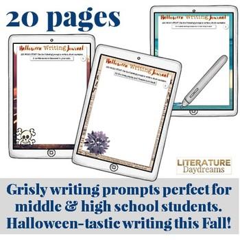 Halloween Writing Activities for teens (Digital Google Drive Edition)