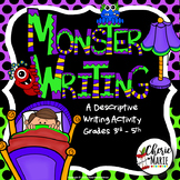Free Monster Writing Craftivity Halloween Writing Craftivity