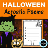 Halloween Acrostic Poems | Halloween Writing Activity