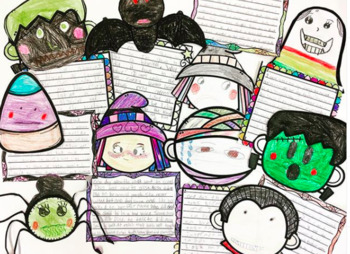 Halloween Writing Activity and Craft (Show not tell)