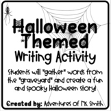 Halloween Writing Activity - Story Creator (Distance Learn