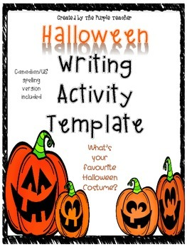 Halloween Writing Activity Template