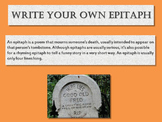 Halloween Writing Activity: Write Your Own Epitaph